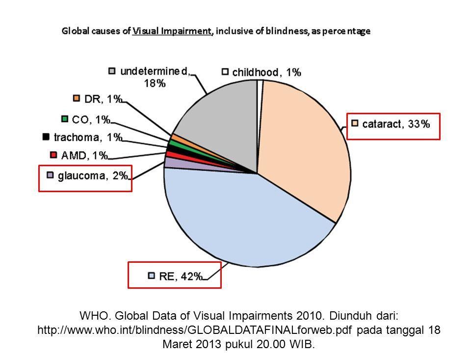 WHO. Global Data of Visual Impairments 2010. Diunduh dari: http://www.who.int/blindness/GLOBALDATAFINALforweb.pdf pada tanggal 18 Maret 2013 pukul 20.