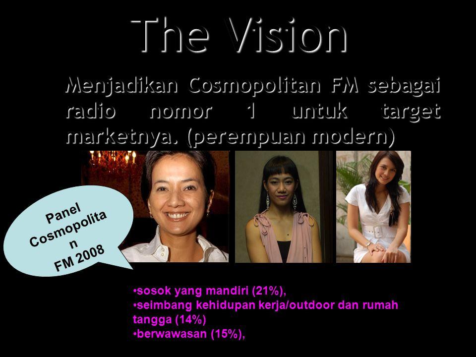 The Vision Menjadikan Cosmopolitan FM sebagai radio nomor 1 untuk target marketnya.