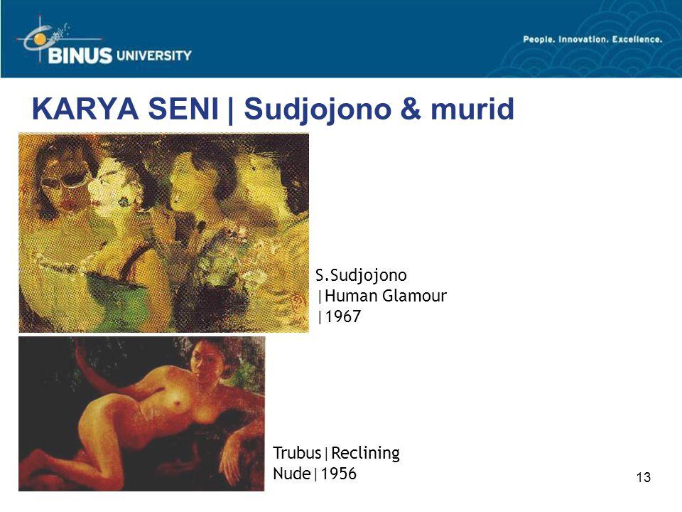 13 KARYA SENI | Sudjojono & murid Trubus|Reclining Nude|1956 S.Sudjojono |Human Glamour |1967