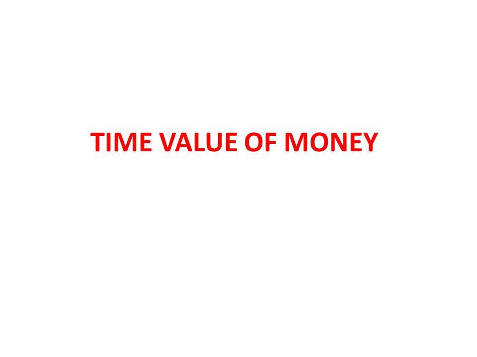 PENGERTIAN TIME VALUE OF MONEY Konsep Time Value Of Money berhubungan dengan tingkat bunga yang digunakan dalam perhitungan aliran kas.