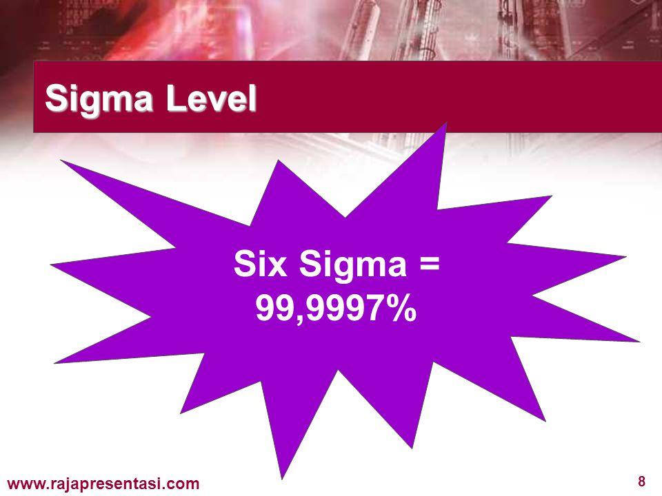 49 www.rajapresentasi.com Champions/ Para Juara Bertanggung jawab pada implementasi Six Sigma antar bagian organisasi dengan cara yang terintegrasi.