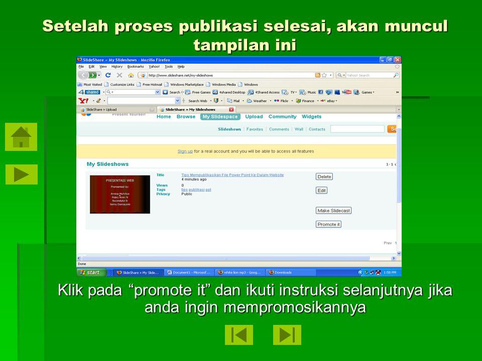 "Setelah proses upload selesai, lakukan pengaturan dan klik pada ""publish All"""