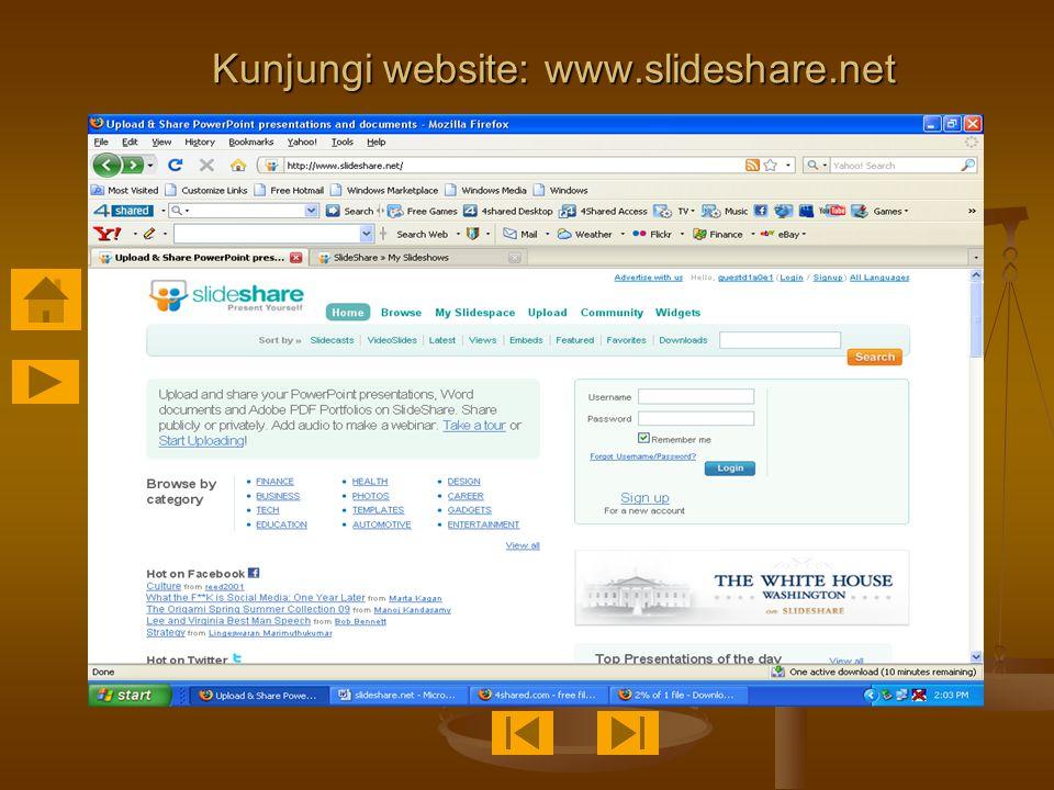 Kunjungi website: www.slideshare.net