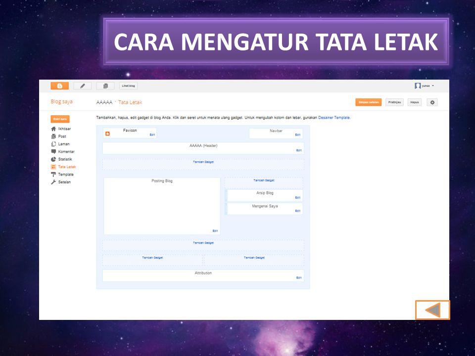 CARA MENGATUR TATA LETAK