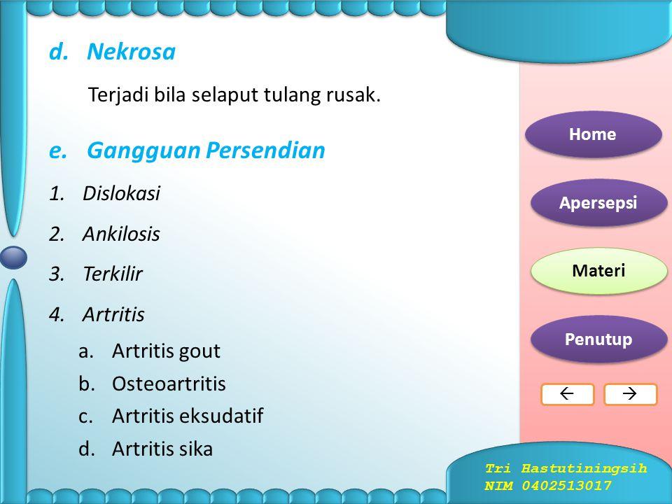 c.Kebiasaan Sikap Tubuh yang Salah Home Apersepsi Materi Penutup  Tri Hastutiningsih NIM 0402513017
