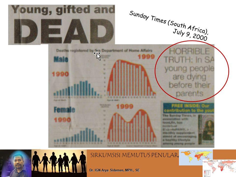 SIRKUMSISI MEMUTUS PENULARAN HIV Dr. IGN Arya Sidemen, MPH., SE Sunday Times (South Africa), July 9, 2000