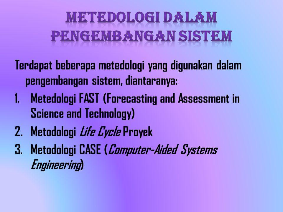 Tujuan CASE adalah untuk mempercepat proses pengembangan sistem dan meningkatkan kualitas sistem yang dihasilkan.