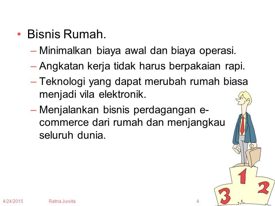 4/24/2015Ratna Juwita5 Bisnis Keluarga (family-owned business) merupakan bisnis yang pengendalian keuangannya dilakukan oleh satu atau lebih keluarga.