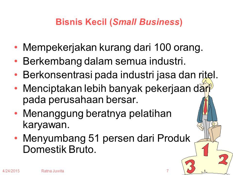4/24/2015Ratna Juwita18 Tugas Minggu Depan Masing-masing bawa 1 produk (barang), usahakan produk/barang tersebut dalam bentuk kemasan.