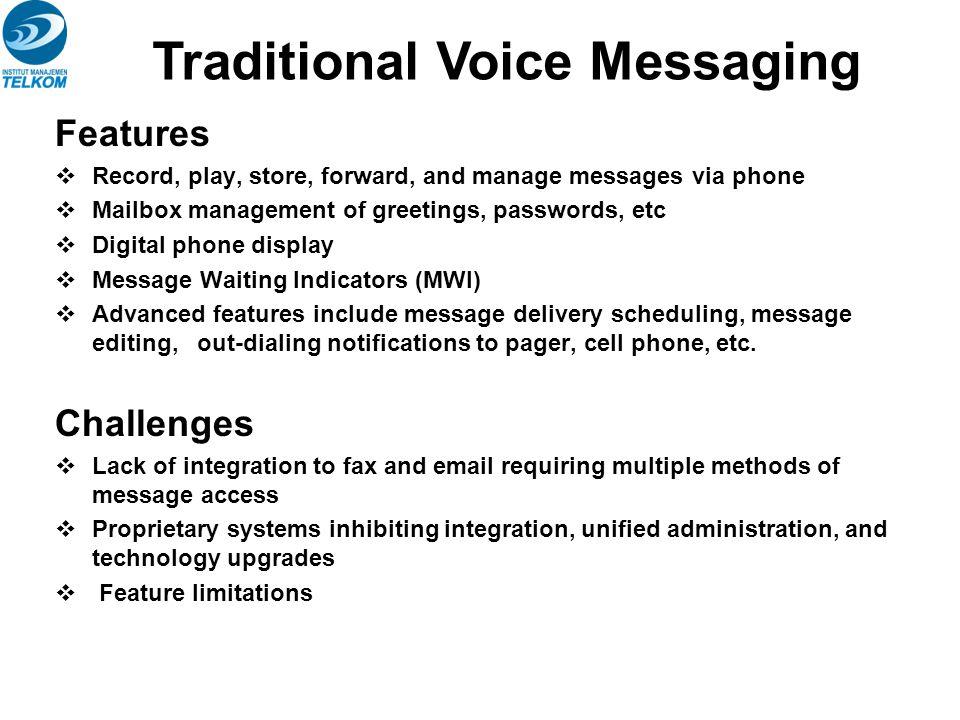 Messaging Media Server in a UM Environment SM341073 Pengenalan Teknologi dan Jasa Telekomunikasi Semester Ganjil Tahun Ajaran 2009 - 2010 16