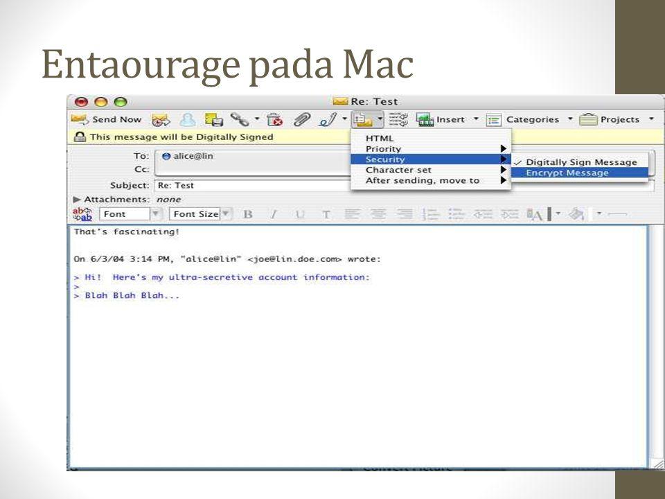 Entaourage pada Mac