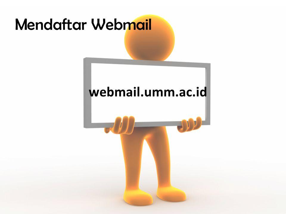 Mendaftar Webmail webmail.umm.ac.id