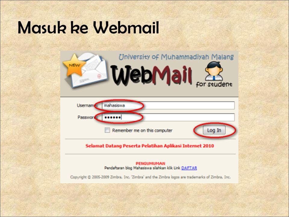 Masuk ke Webmail