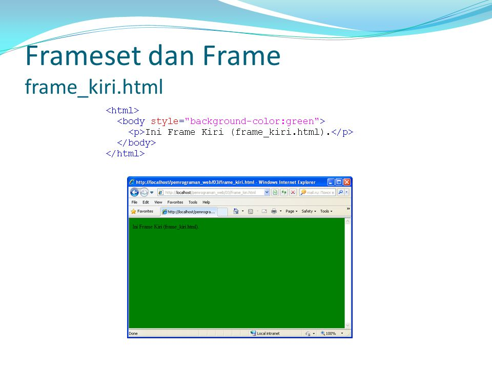 Elemen pada Tabel … Mendefinisikan sebuah tabel dalam dokumen HTML.