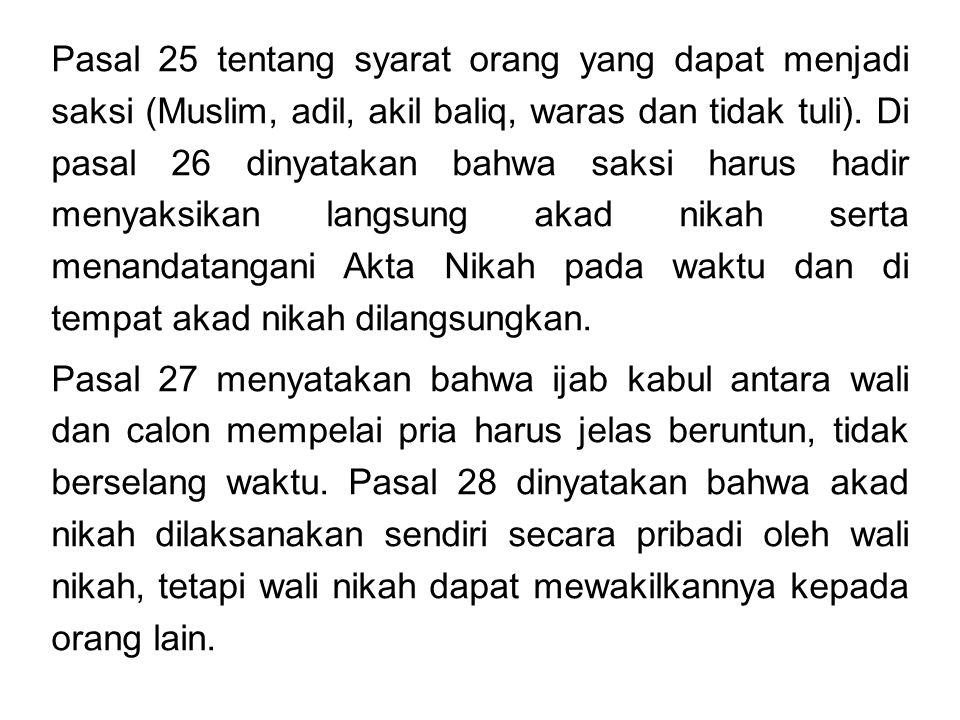 Buku ke III.Hukum Perwakafan terdiri dari 5 Bab, dengan 14 Pasal (Pasal 215 s/d 228).