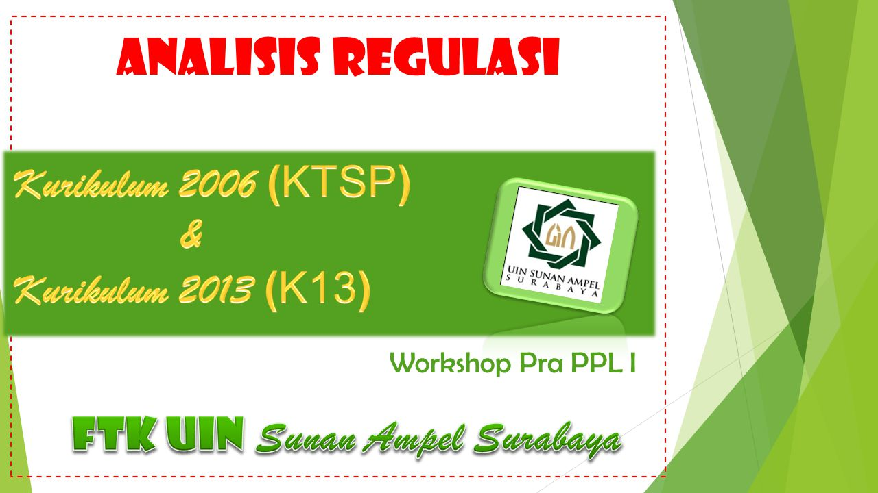 analisis regulasi Workshop Pra PPL I