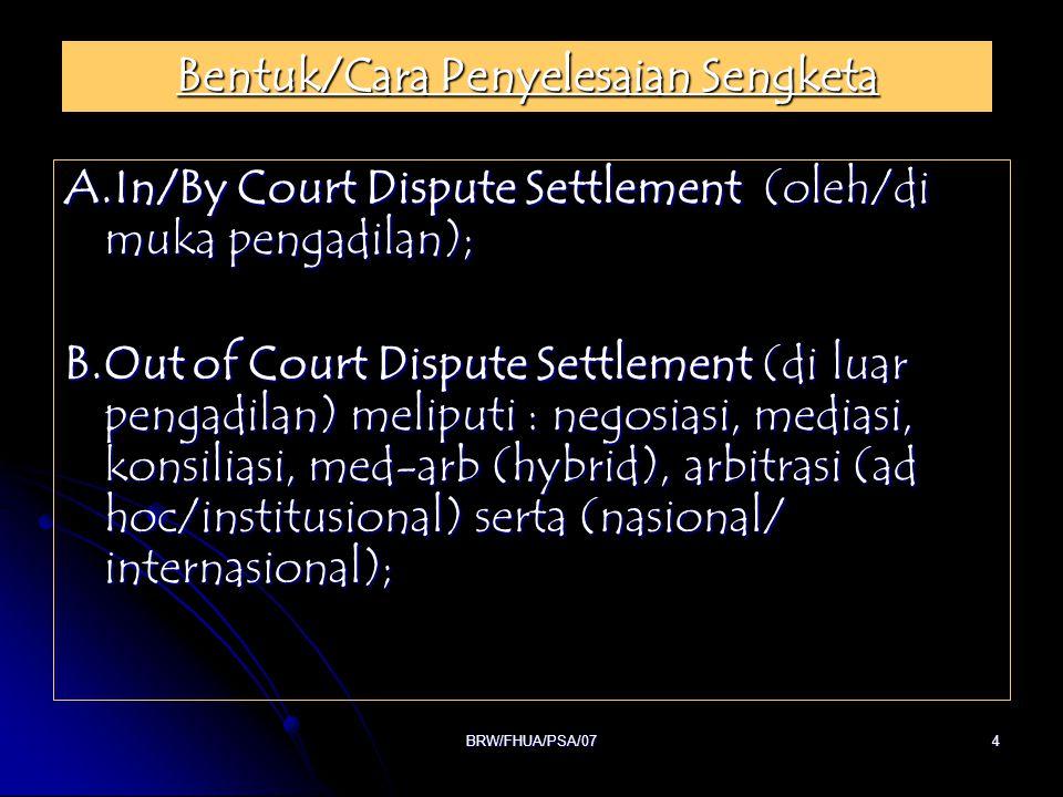 BRW/FHUA/PSA/0725 Bidang Kehutanan Bidang Kehutanan Pasal 74 ayat (1) Undang Undang No.