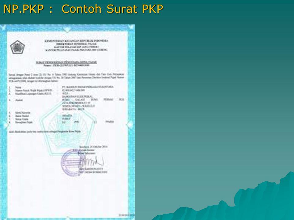 NP.PKP : Contoh Surat PKP