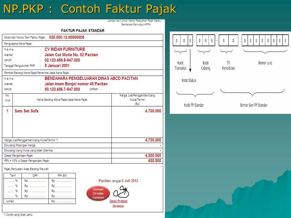 NP.PKP : Contoh Faktur Pajak