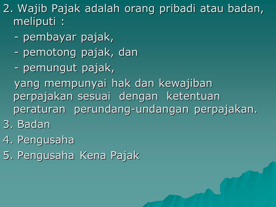 P A J A K - kontribusi wajib kepada negara yang terutang oleh - orang pribadi atau badan yang bersifat bersifat - memaksa berdasarkan berdasarkan - Un
