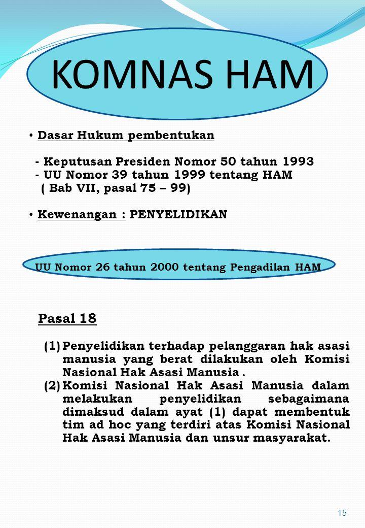 14 Dalam Pasal 24 Undang-Undang Nomor 26 Tahun 2000 telah ditentukan secara limitatif bahwa penuntutan terhadap pelanggaran HAM yang berat wajib dilak