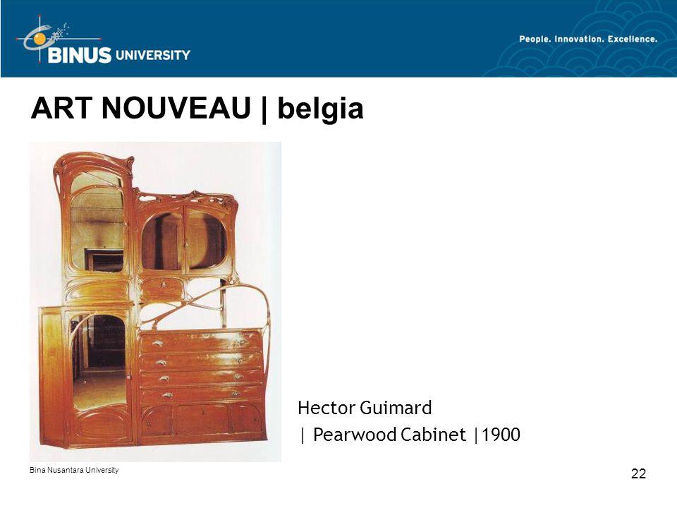 Bina Nusantara University 22 ART NOUVEAU | belgia Hector Guimard | Pearwood Cabinet |1900
