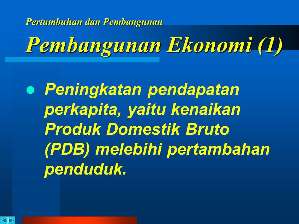 Pertumbuhan Ekonomi Pembangunan Ekonomi