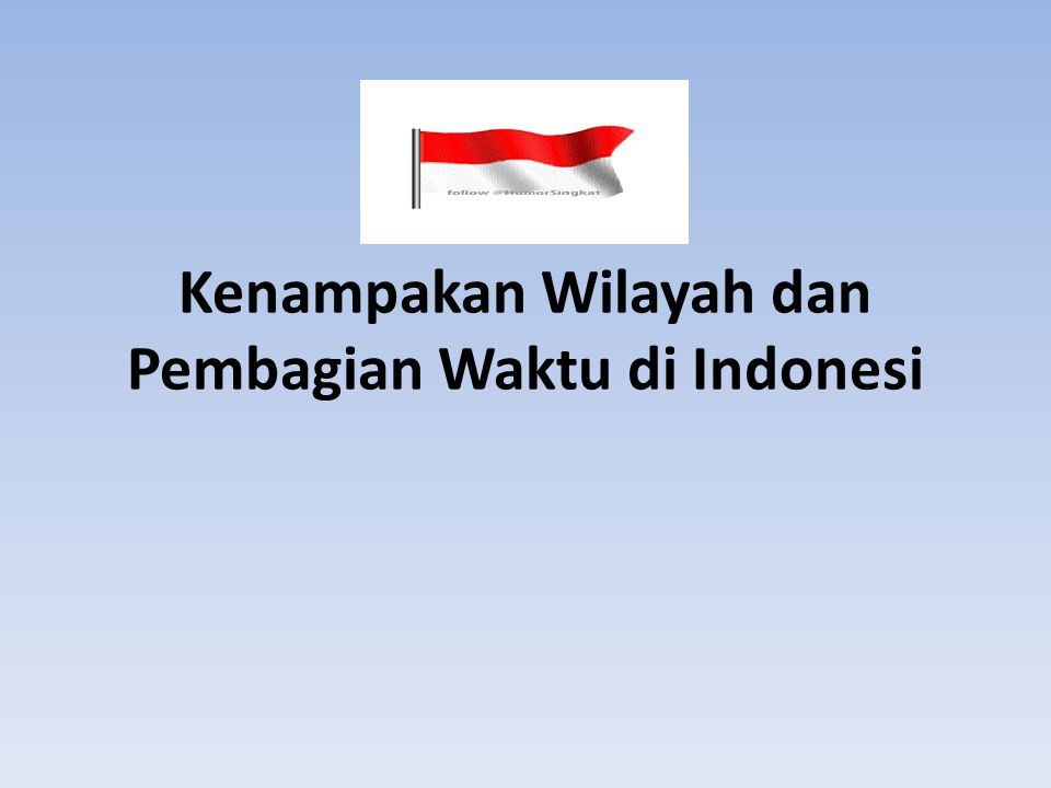Kenampakan Wilayah dan Pembagian Waktu di Indonesi