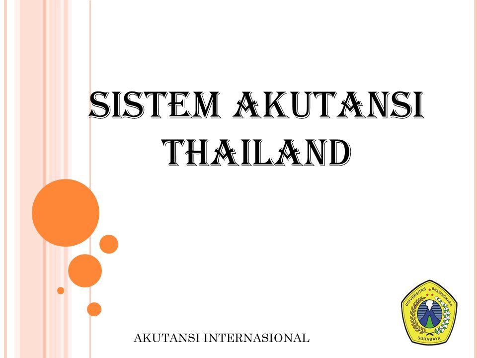 SISTEM AKUTANSI THAILAND AKUTANSI INTERNASIONAL