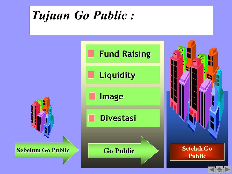 11 Tujuan Go Public : Fund Raising Liquidity Divestasi Sebelum Go Public Go Public Setelah Go Public Image