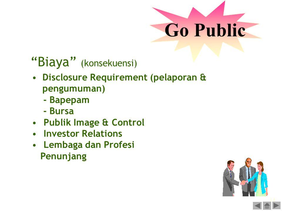 13 Go Public Disclosure Requirement (pelaporan & pengumuman) - Bapepam - Bursa Publik Image & Control Investor Relations Lembaga dan Profesi Penunjang