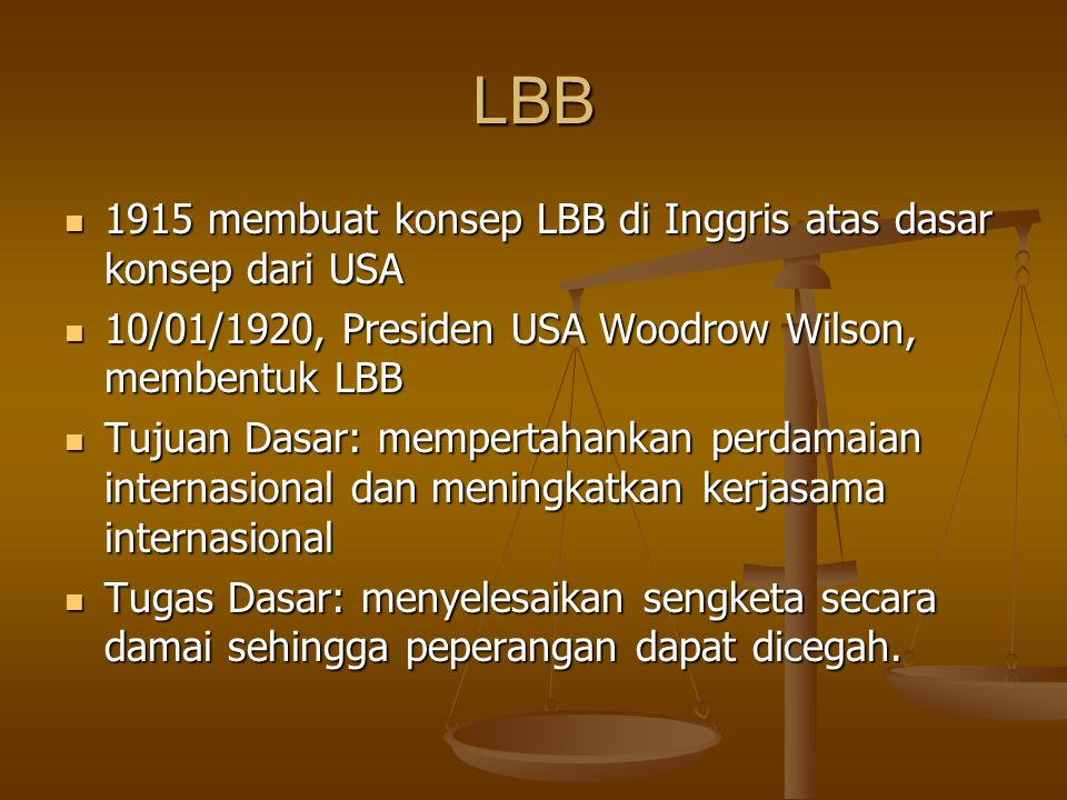 LBB 1915 membuat konsep LBB di Inggris atas dasar konsep dari USA 1915 membuat konsep LBB di Inggris atas dasar konsep dari USA 10/01/1920, Presiden U
