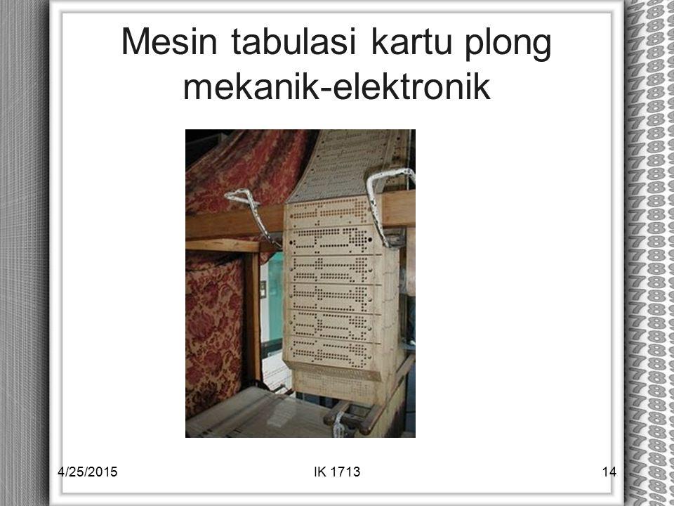 Mesin tabulasi kartu plong mekanik-elektronik 4/25/2015IK 171314