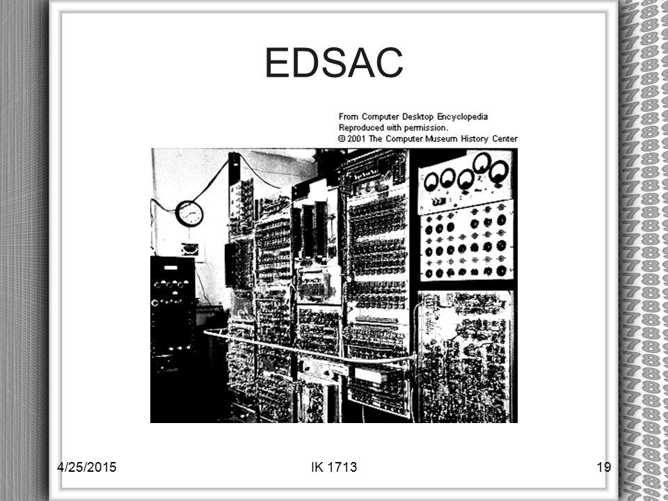 EDSAC 4/25/2015IK 171319