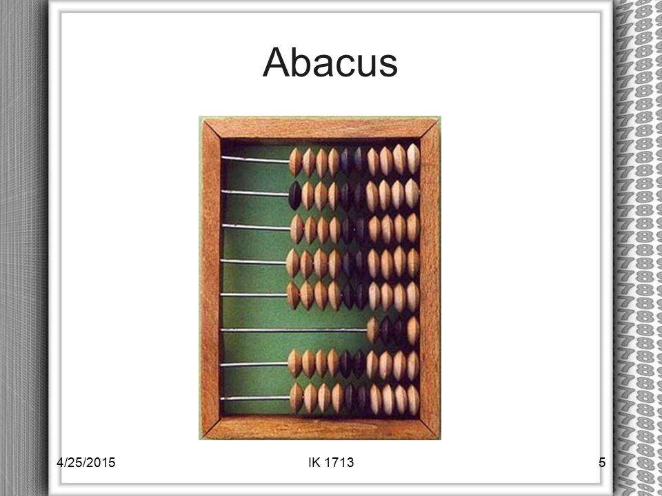 Abacus 4/25/2015IK 17135