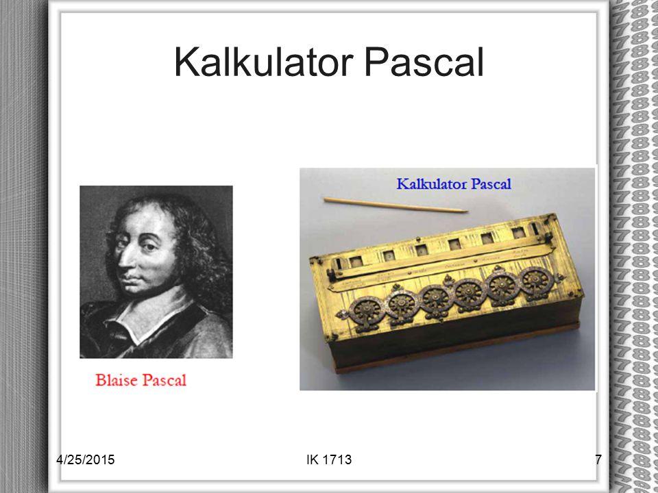 Kalkulator Pascal 4/25/2015IK 17137
