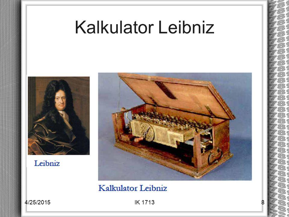 Kalkulator Leibniz 4/25/2015IK 17138