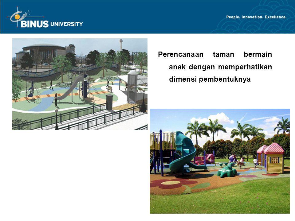 Perencanaan taman bermain anak dengan memperhatikan dimensi pembentuknya