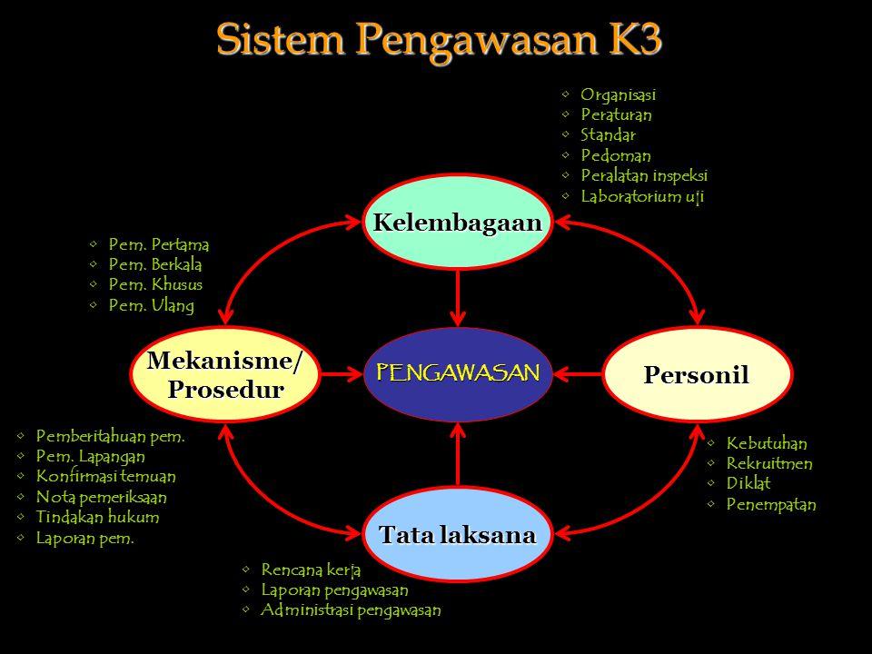 PENGAWASAN Kelembagaan Tata laksana PersonilMekanisme/Prosedur Pem.