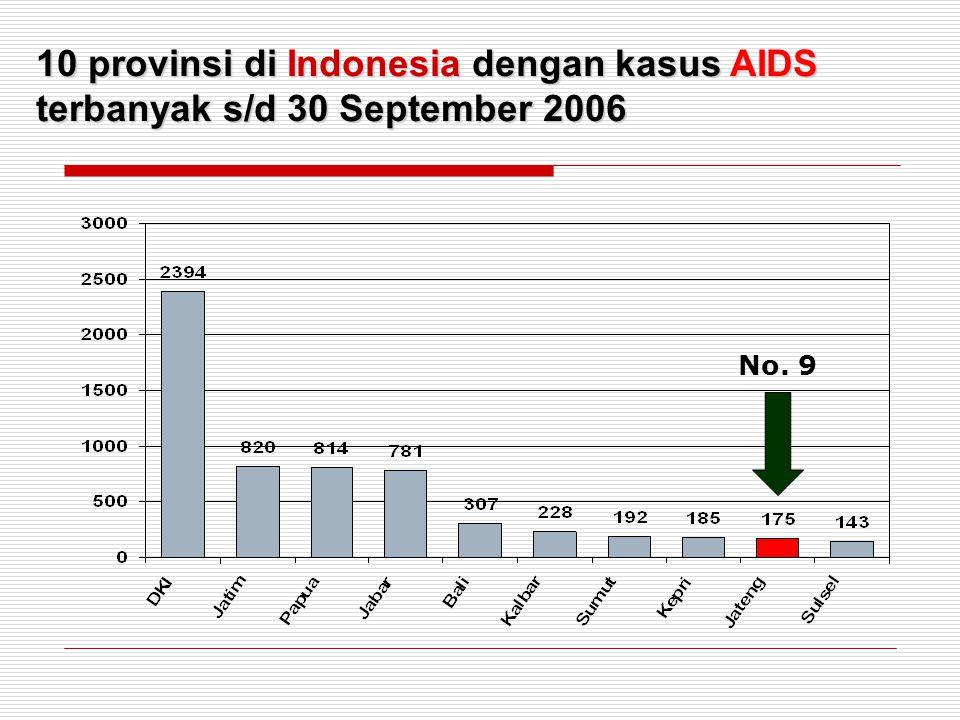 10 provinsi di Indonesia dengan kasus AIDS terbanyak s/d 30 September 2006 No. 9