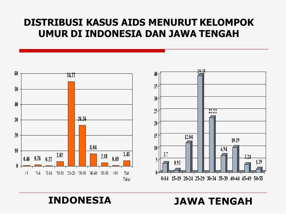 KASUS AIDS YANG DILAPORKAN OLEH RSUD DI JAWA TENGAH 1993-2006 (8 DES 2006)  Juml kasus