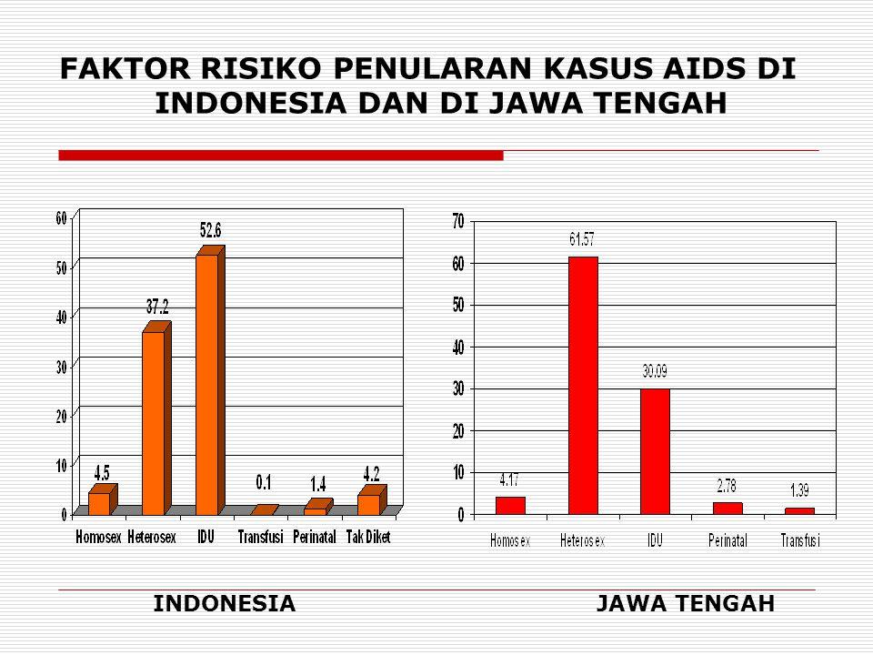 GRAFIK KECENDERUNGAN FAKTOR RISIKO KASUS AIDS per PERIODE DI INDONESIA IDU HETEROSEX
