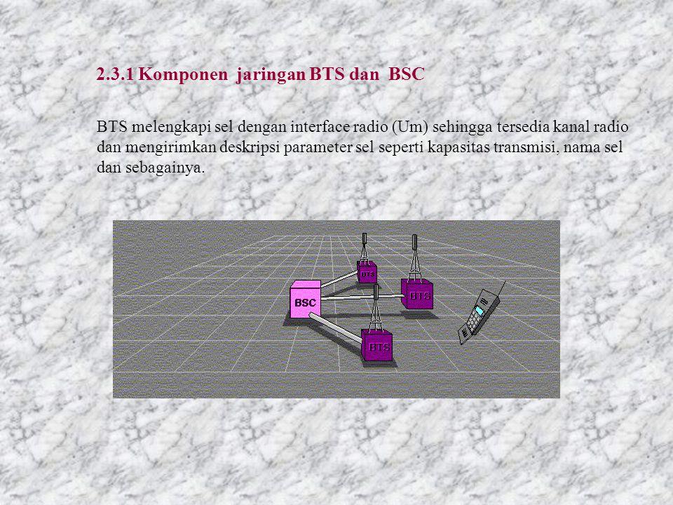 Sebuah BSC dapat mengontrol beberapa BTS. Interface antara BSC dan BTS disebut interface A bis.
