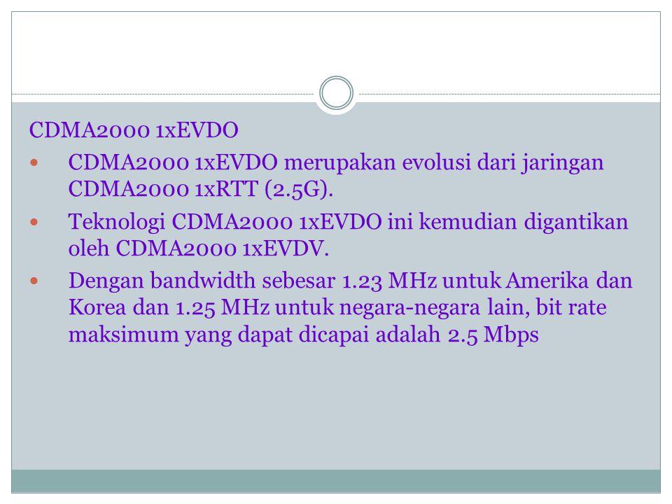 Wideband CDMA (W-CDMA) WCDMA merupakan evolusi dari EDGE (2.5G).