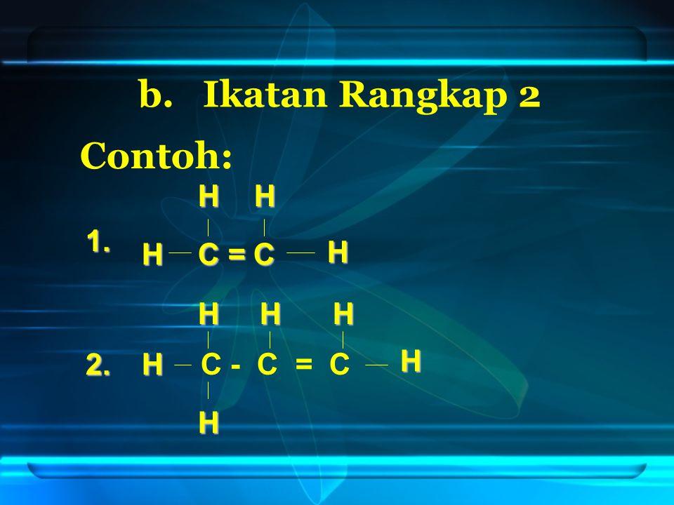 2. Cabangnya diberi nama alkil CH 3 - CH 2 - CH - CH - CH 3 CH 3 metil CH 2 etil Contoh: CH 3