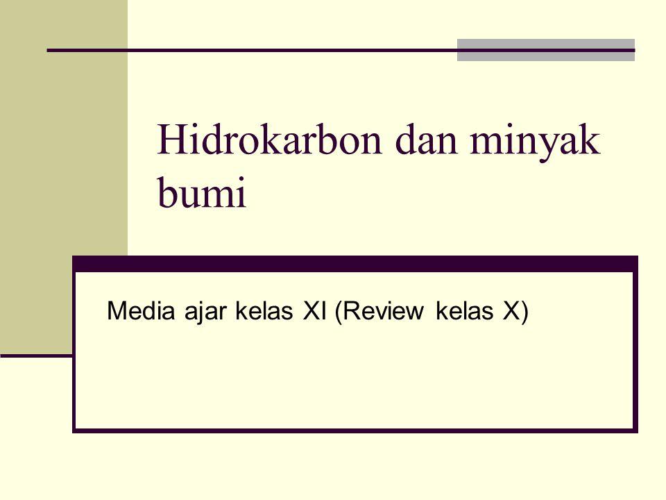 Hidrokarbon dan minyak bumi Media ajar kelas XI (Review kelas X)