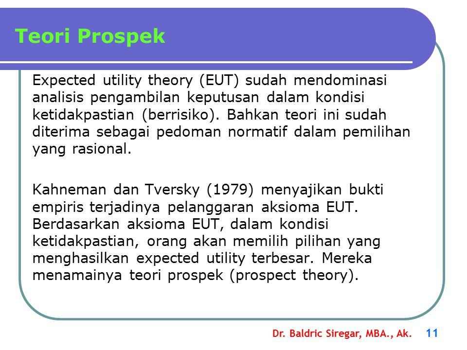 Dr.Baldric Siregar, MBA., Ak.