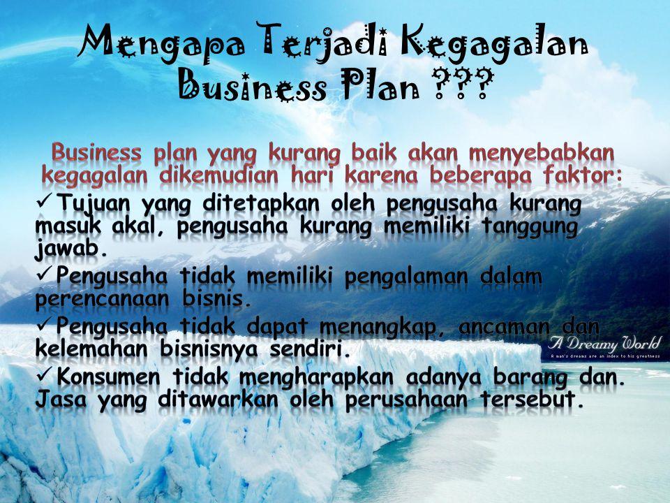 Mengapa Terjadi Kegagalan Business Plan ???