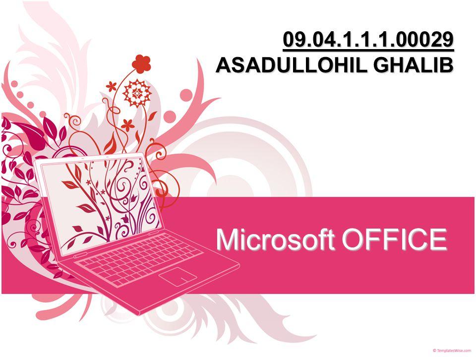 Microsoft OFFICE 09.04.1.1.1.00029 ASADULLOHIL GHALIB