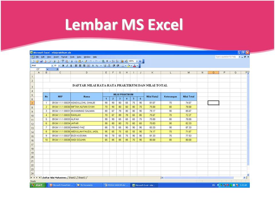 Lembar MS Excel